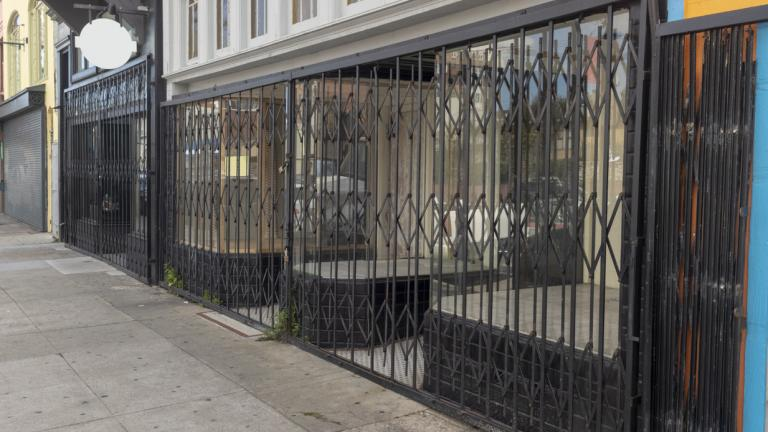 Shuttered store front
