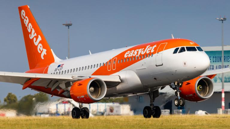 Airbus A319 of EasyJet arrival to PRG Airport in Prague on July 21, 2019. Easyjet is a the second largest low cost airliner in Europe.