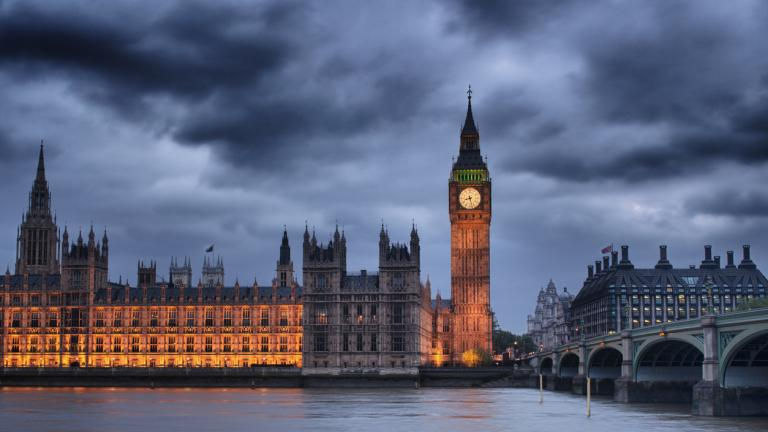 British houses of Parliament and Big Ben. London, England.