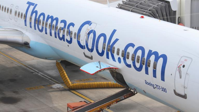 Thomas Cook Boeing 757 parked at Las Palmas Airport, Spain