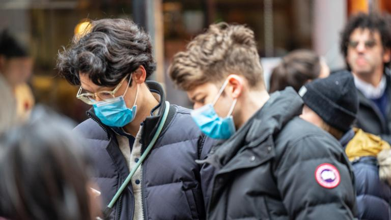 People wearing a face masks to protecting themself because of epidemic in China