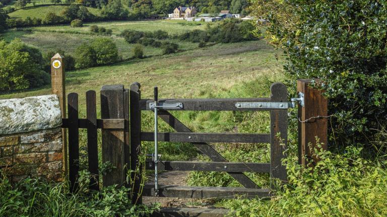 A gate on a footpath