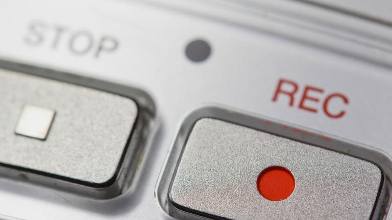 Macro of digital dictaphone
