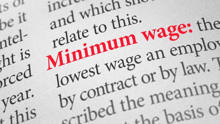 Minimum wage in a dictionary