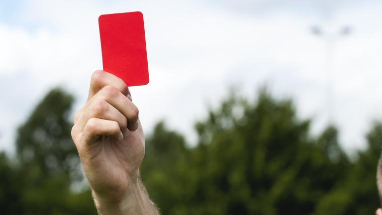 red card penalty