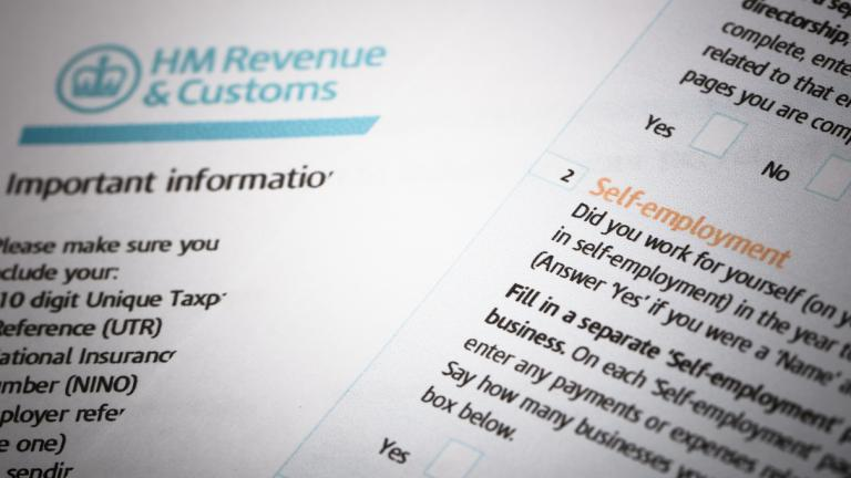 tax return stock image