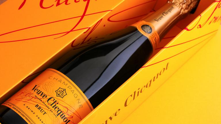 Bottle of Champagne Veuve Clicquot Brut