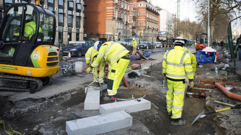 Workmen on the Embankment