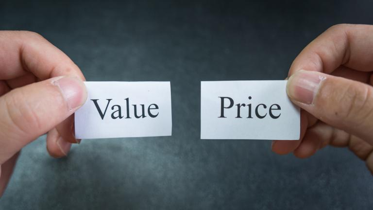 value v price