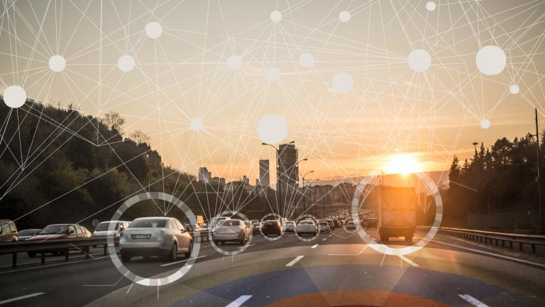 Automation roadmapping for the year to come shown through the image of a driverless car dashboard: