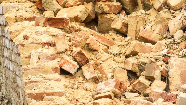 Demolished wall