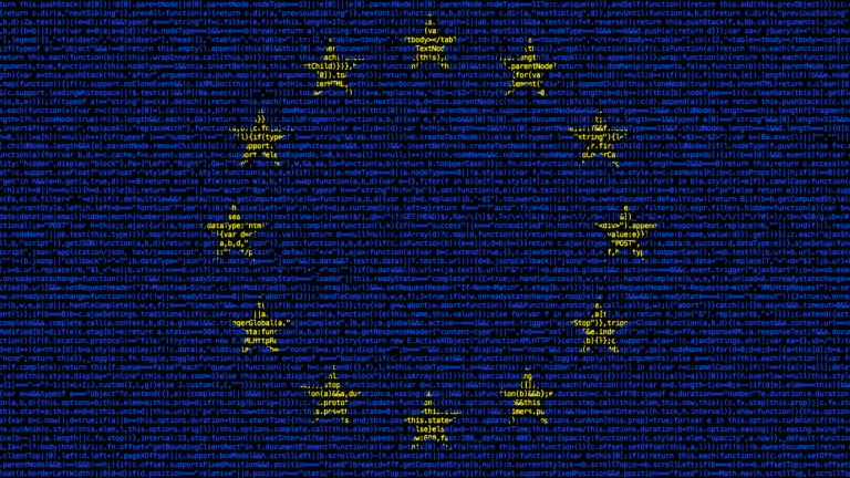 European flag composed of dense computer code