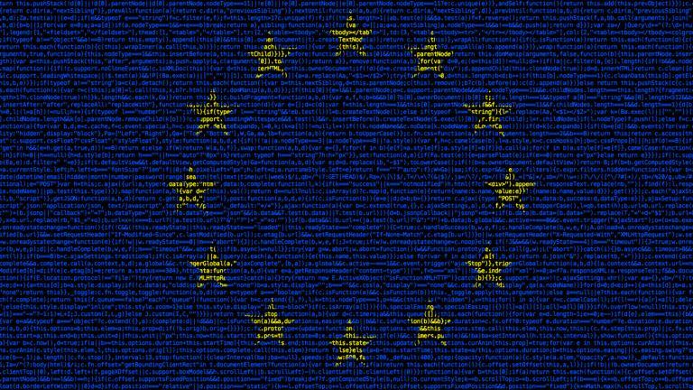 European flag composed of dense computer code