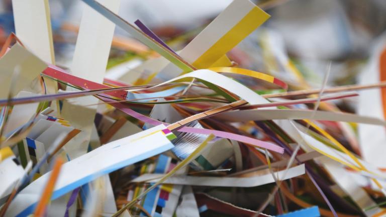 Scrap of paper from paper cutter
