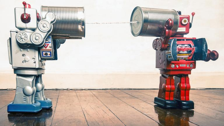 Tin can phone robots