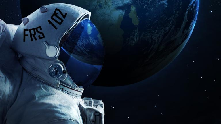 spaceman with an FRS 102 helmet
