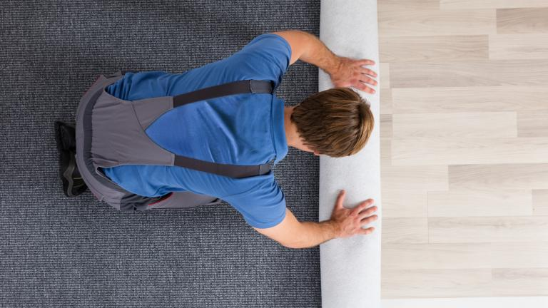 Rolling Carpet On Floor