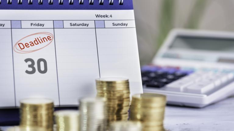 Cash accounting deadline
