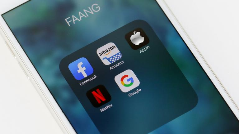 Facebook, Amazon, Apple, Netflix, Google - aka FAANG