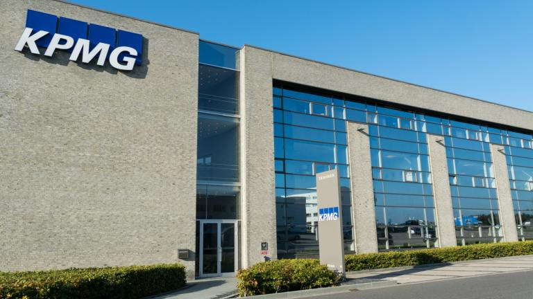 kpmg building with logo