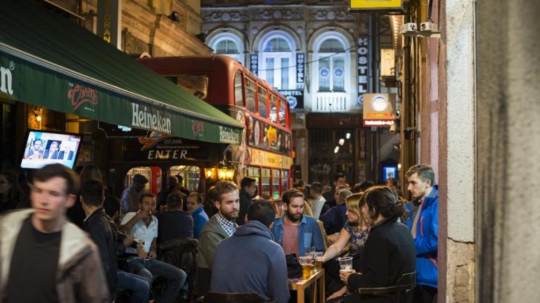 Pubs at night