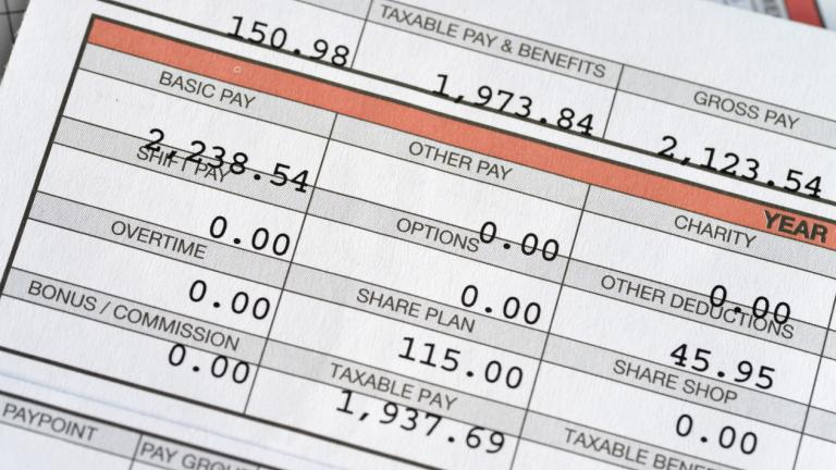 Monthly payslip