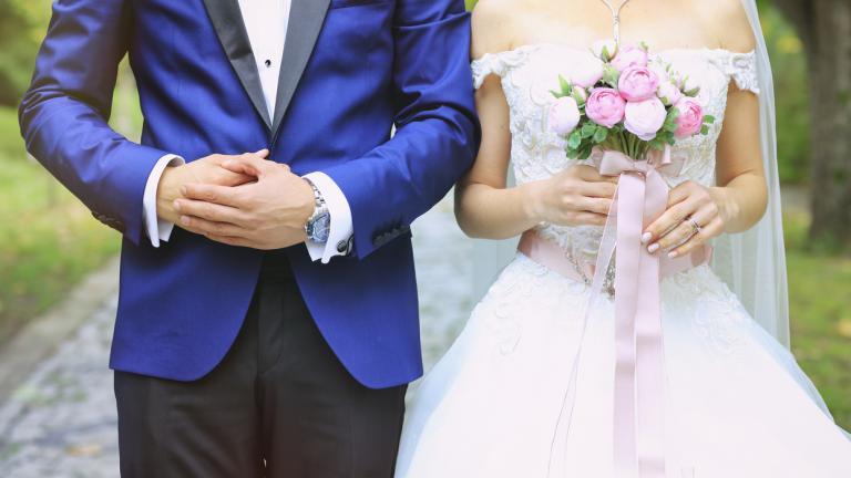 Bride and groom looking dapper