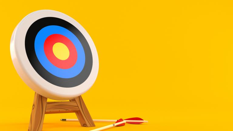Missed target with arrows