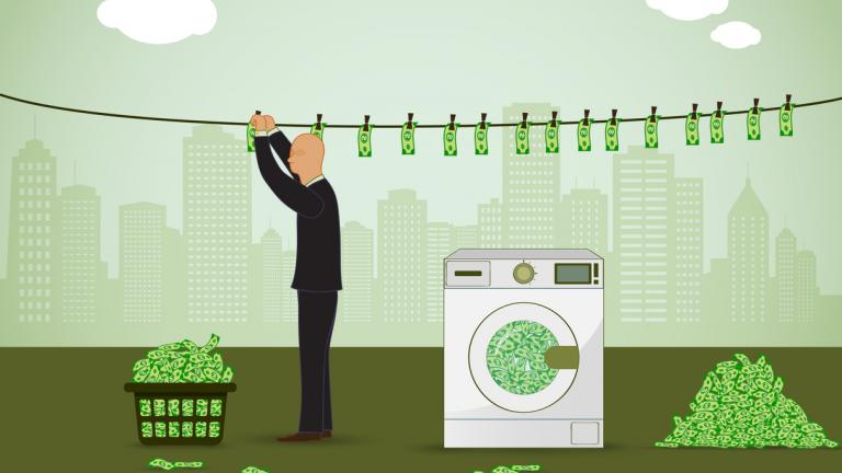 Money laundering illustration