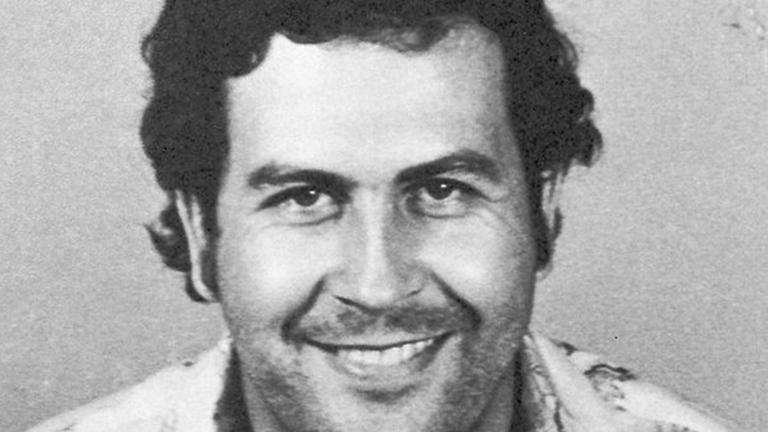 Pablo Escobar:  mug shot taken by the regional Colombia control agency in Medellín in 1976.