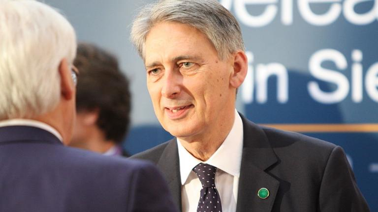 Philip Hammond at a conference