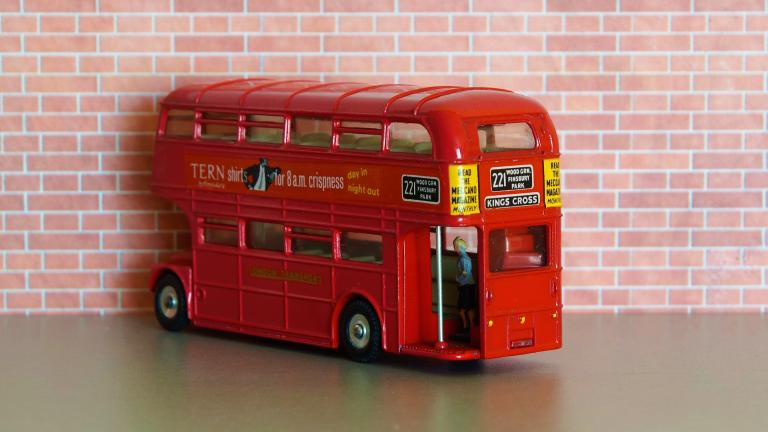 model of a vintage london bus