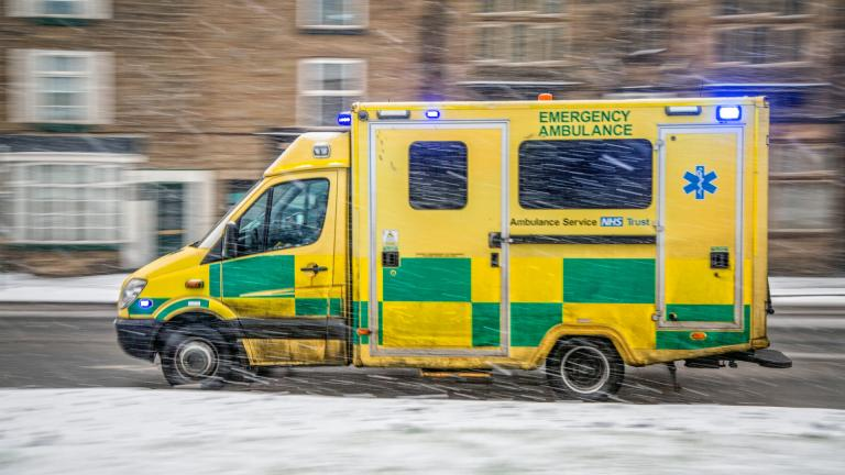 Ambulance driving in winter
