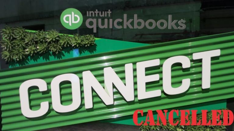 photo QuickBooks Connect 2019 welcome stand