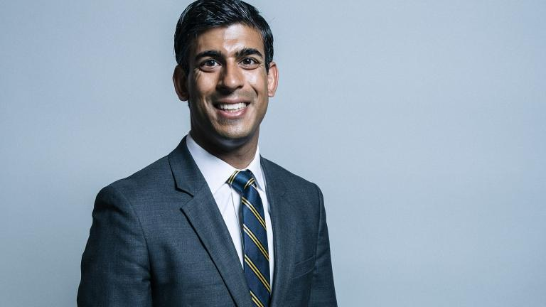 Official portrait of Rishi Sunak