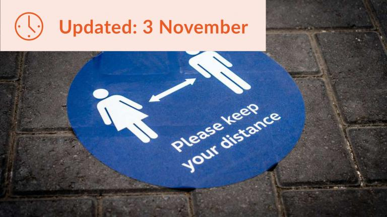 Keep your distance sign#