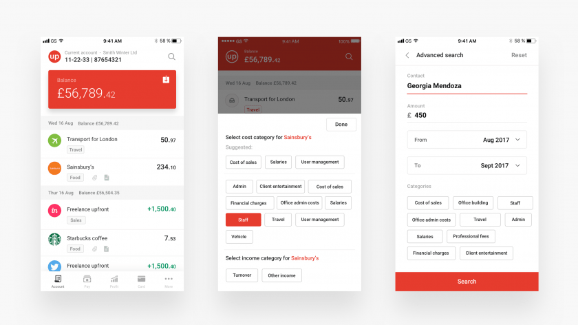 Countingup app design