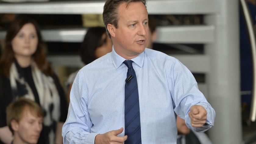 David Cameron visits the University of Exeter in 2016