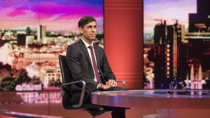 The Chancellor Rishi Sunak appears on the BBC's Marr Show.