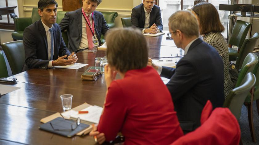 The Chancellor meets with representatives of business groups and trade unions