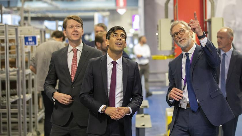 The Chancellor visits Worcester Bosch