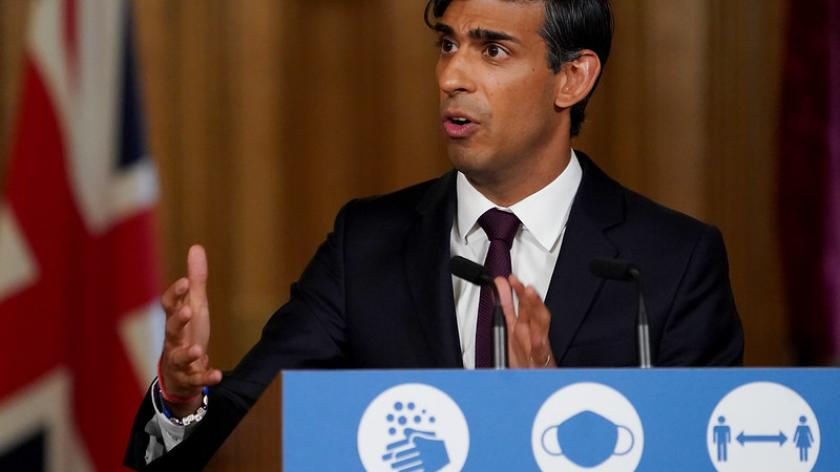 Chancellor of the Exchequer Rishi Sunak holds a Covid-19 Press Conference in 10 Downing Street.