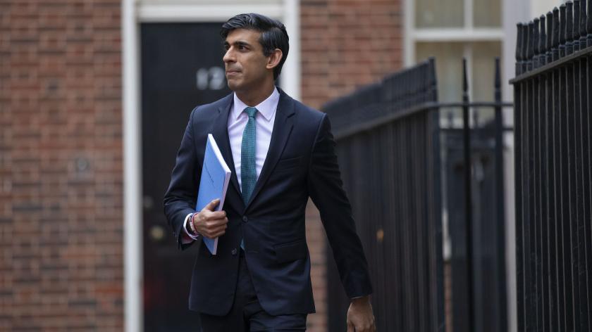 Rishi Sunak leaving 11 Downing Street