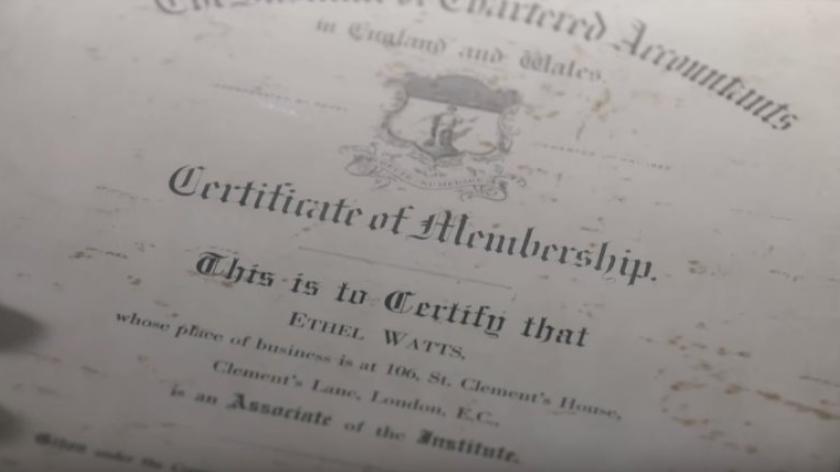 Ethal Watts certificate