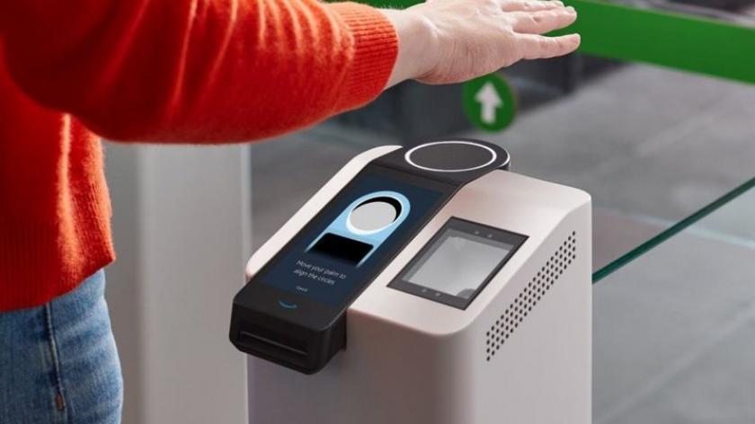 Image of Amazon One scanner technology.