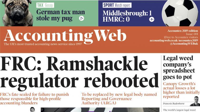 AccountingWEB Accountex 2019 newspaper