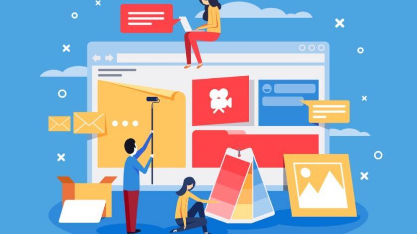 Creation of web design