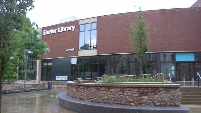 Exeter Library after rebuilding
