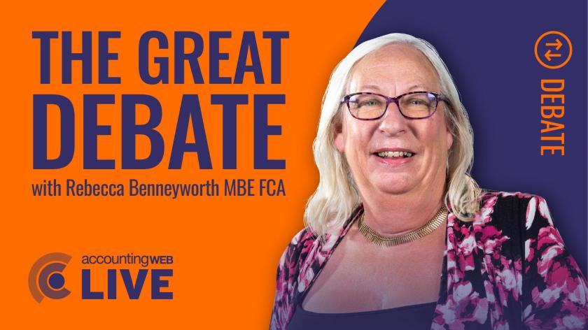 Rebecca Benneyworth's AccountingWEB Live Great Debate, 22 June 2020