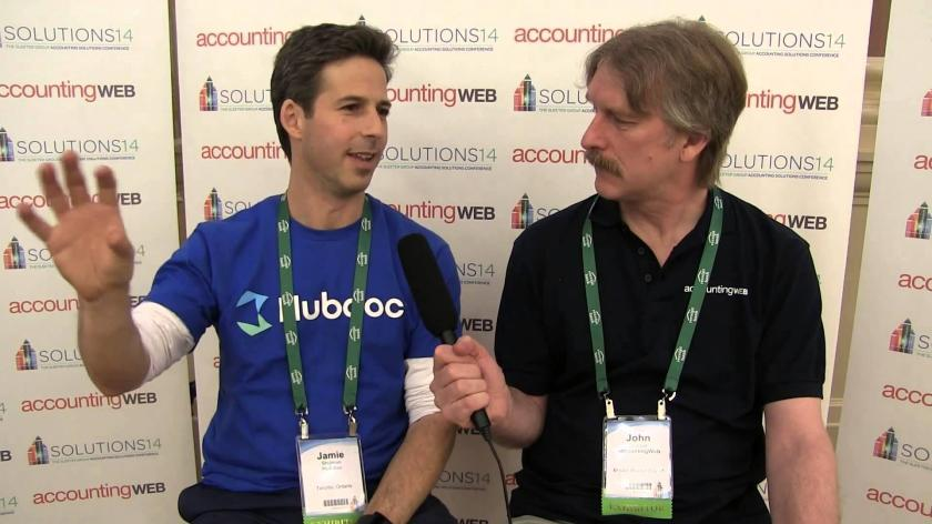 Hubdoc founder Jamie Shulman meets AccountingWEB in 2014